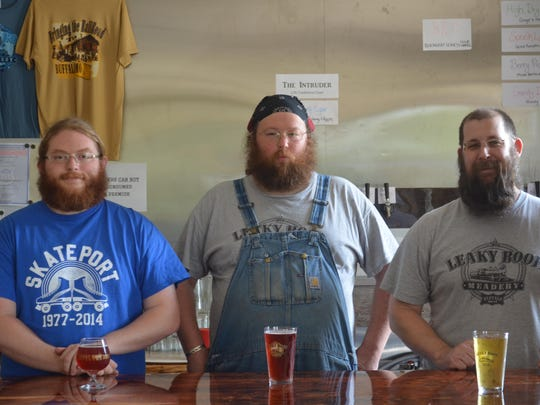 Jhett Collins, Todd Rock and Andrew Steiger are the owners of Leaky Roof Meadery in Buffalo. Some experts say mead is the next trending craft drink.
