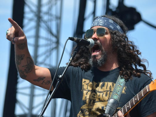 Brant Bjork, seen playing with the Low Desert Punk Band at Coachella, will perform Friday at Pappy and Harriet's saloon.