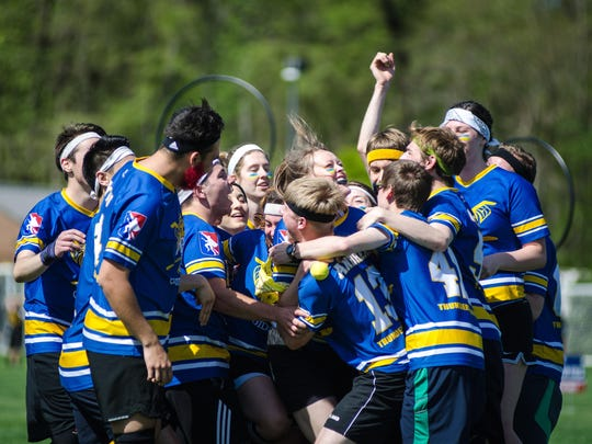Quidditch action from last year's national championship when University of British Columbia won.