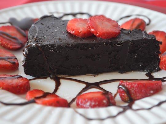 chocolate cake with swirls