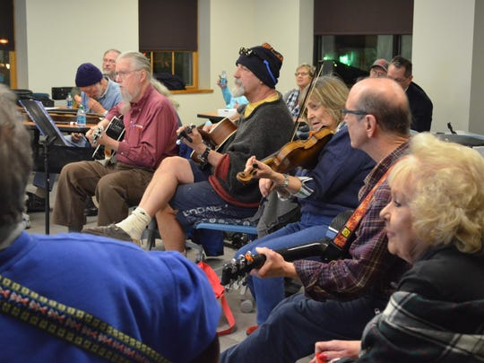 Jammonton was crowded with musicians this month. Kramer Hall hosts the event monthly, inviting musicians to perform together in a casual group setting.