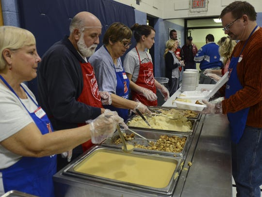 The Salvation Army serves up a free Thanksgiving meal