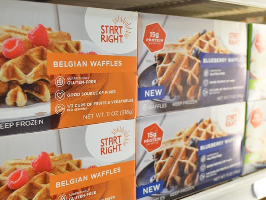 Start Right waffles are available in select Price Cutter locations. The frozen waffles are available in three flavors and contain 15 grams of protein.