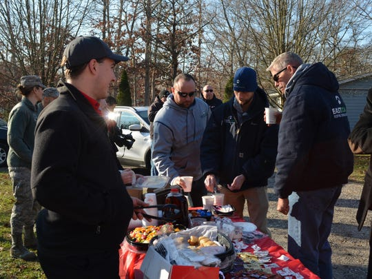 Chick-Fil-A in Egg Harbor Township donated breakfast for those who attended the surprise roof giveaway announcement.