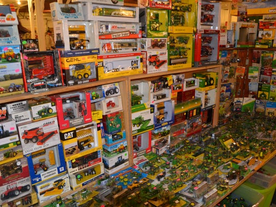 Visitors to the 30th annual Fremont Toy Show got to choose from 235 tables spread across three buildings at the Sandusky County Fairgrounds.