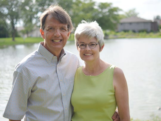 Jeffery Ford and his wife, Lynette Marshall, are pictured Monday in Coralville. Ford has been a longtime community volunteer, devoting much of his efforts to environmental and civil rights causes. Marshall is president and CEO of the University of Iowa Foundation.