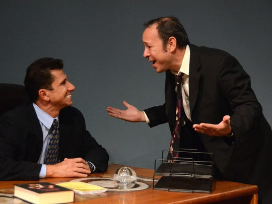 "Jesse Ramlawi and Franc Gaxiola  in David Mamet's ""Speed the Plow."""