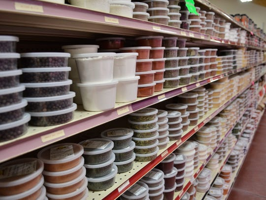 Country View Bulk Foods in Snover features many bulk spices, baking goods and candy