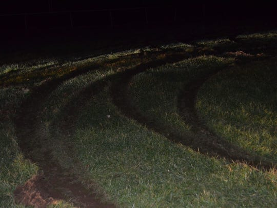 The Rockland Community College baseball field was damaged by two drivers, police say.