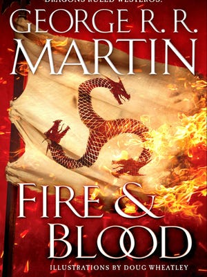 """The jacket of """"Fire & Blood."""""""