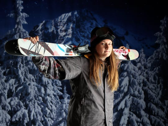 Team USA freeskier Devin Logan poses for a photo during