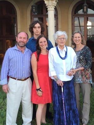 Class of 1948 Alumna Helen Chaney (second from right), pictured with her family, recently made a $500,000 donation to Union County College for student scholarships.