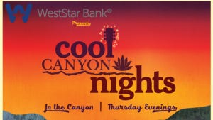 The line-up for the annual Cool Canyon Nights free concert series was announced on Thursday.