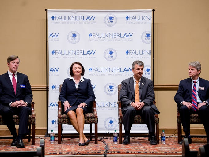 Republican Attorney General Candidate's, from left,