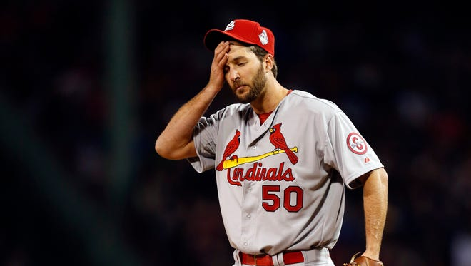 The defense behind Adam Wainwright did not show up in Game 1 of the World Series.
