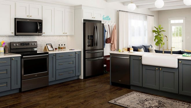 Black stainless-steel appliances can create a bold look for any kitchen, thanks to a neutral color that can blend in or stand out.