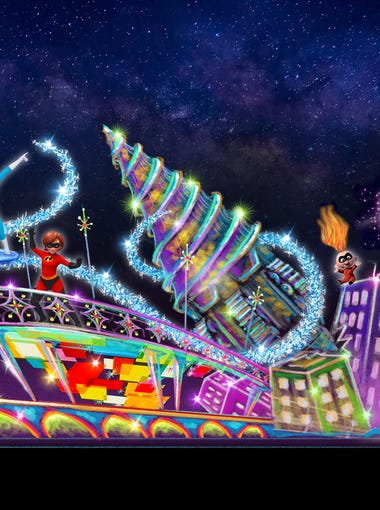 The Paint the Night parade will include a new Incredibles float