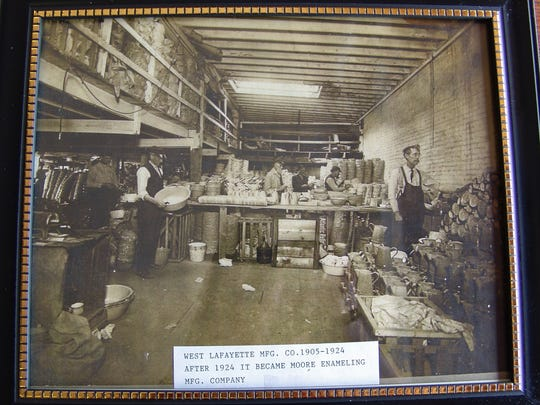 The West Lafayette Manufacturing Co. is captured in this photograph.