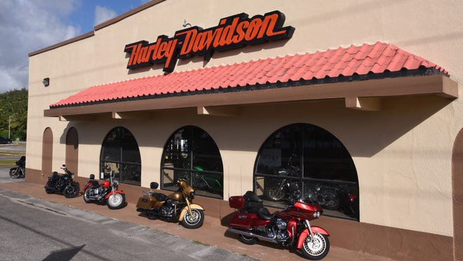 The Harley-Davidson motorcycle dealership in Asan is shown in this photo taken on Thursday, May 18, 2017.
