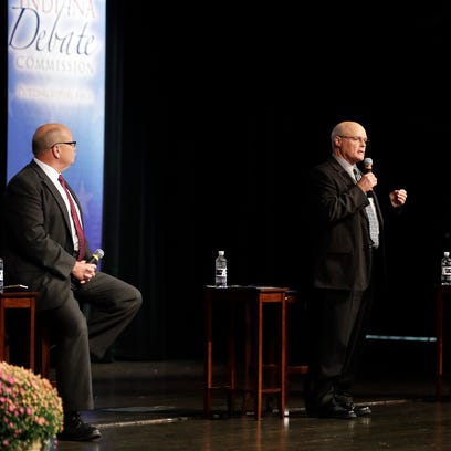 Tame first debate draws few distinctions in Indiana's race for governor