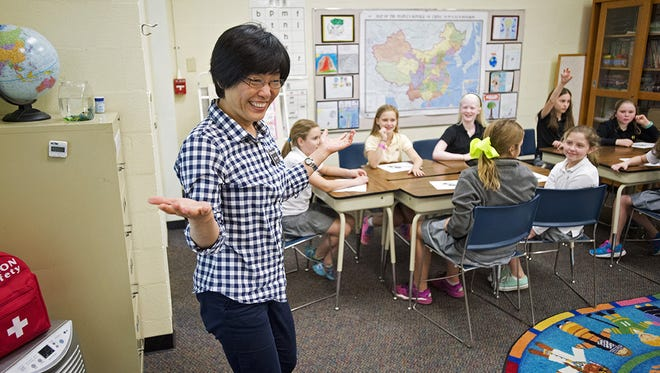 Hutchison middle schoolers enjoy the challenge of learning a second language in their Mandarin class.