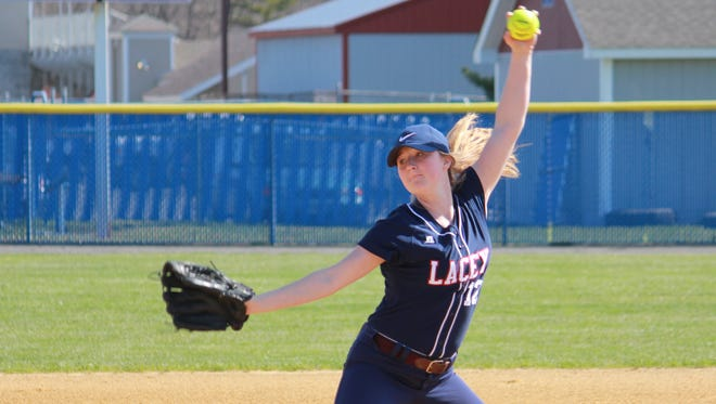 Chelsea Howard of Lacey helped the Lions to a 3-0 Ocean County Tournament win over Point Beach Saturday
