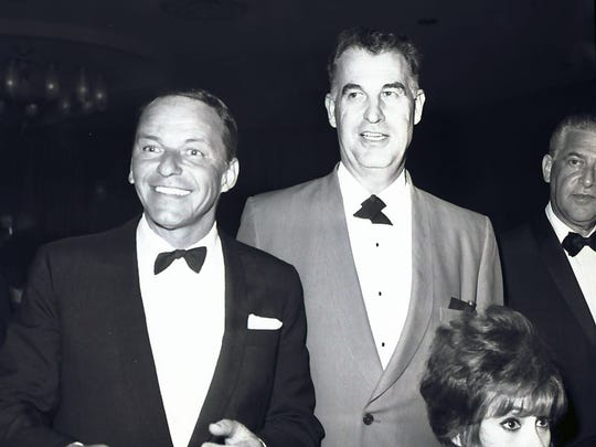 Frank Sinatra and Palm Springs legend Frank Bogert.
