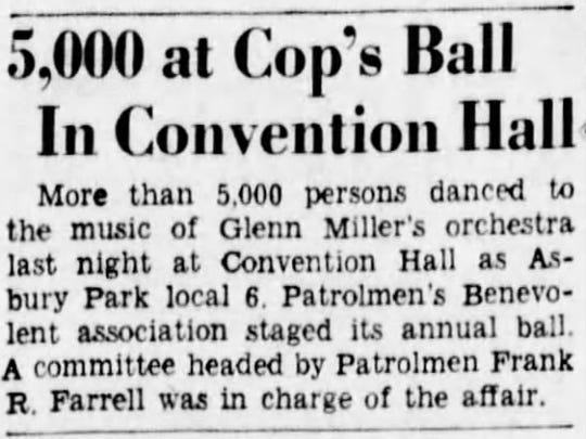 More than 5,000 people attended Glenn Miller's 1940 show at Convention Hall.
