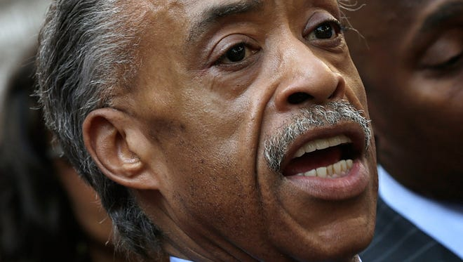 Al Sharpton during a news conference outside the U.S. Justice Department on July 16, 2013.