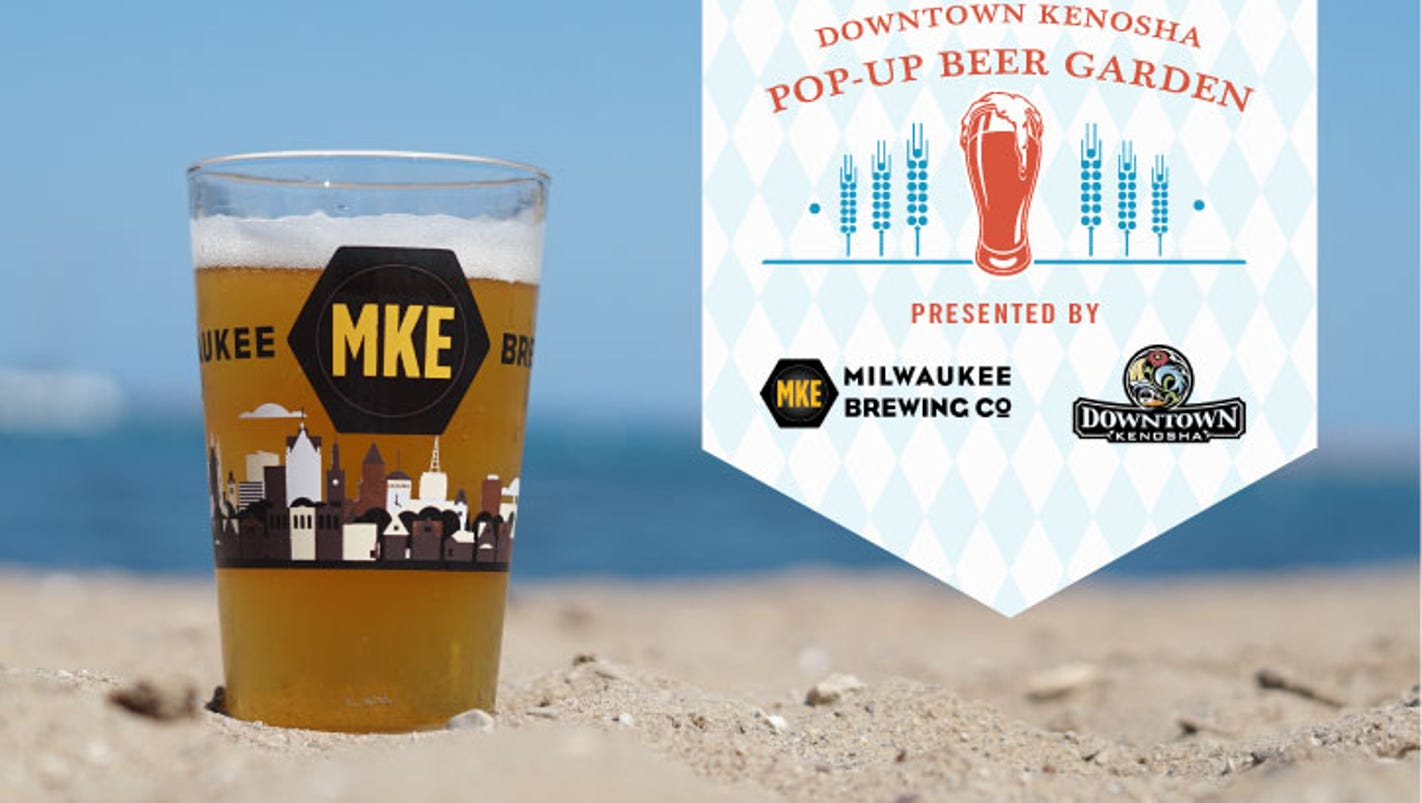 milwaukee brewing is bringing a pop-up beer garden to the beach in