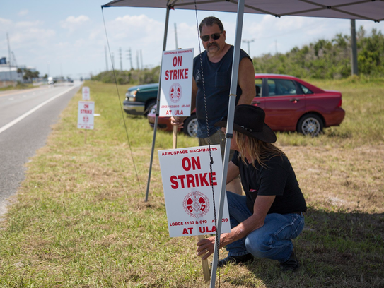 Machinists Union members strike against United Launch