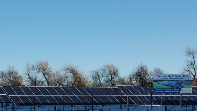 The Fort Collins Solar Farm sits along Riverside Avenue.
