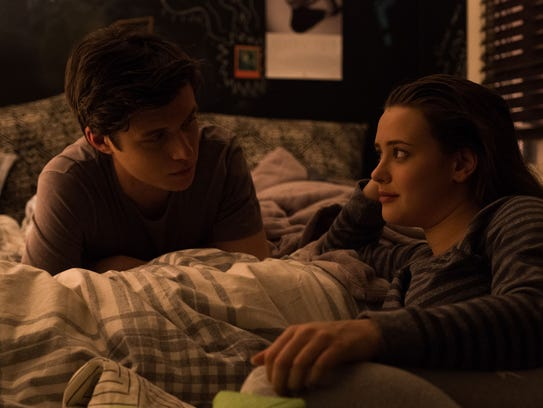 "Simon (Nick Robinson, left) struggles to tell his best friend Leah (Katherine Langford) that he's gay in ""Love, Simon."""