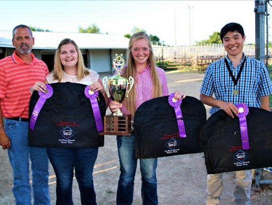 The State 4-H Livestock Judging Contest was held July