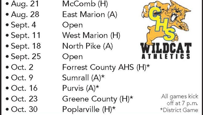 Columbia High football schedule