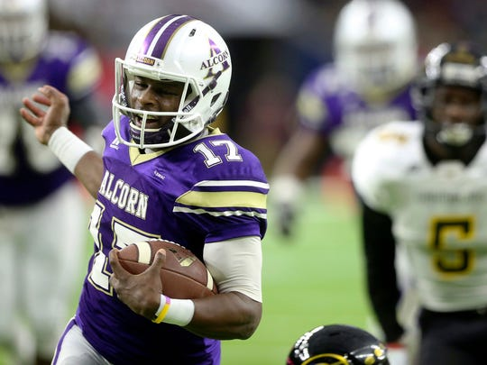 Alcorn State University quarterback Lenorris Footman