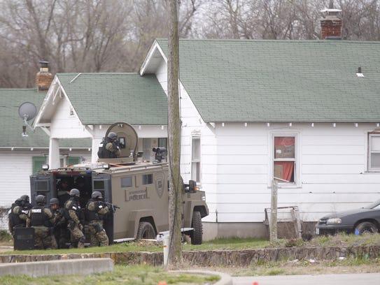 Police have set up a perimeter near Kearney and Bolivar.