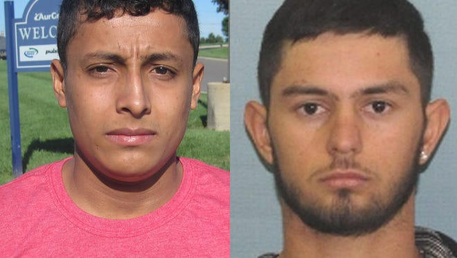 Josue Vargas, left, and Edvin Rodas are being sought by Fairfield police in connection with a shooting that occurred Monday on Billy Circle.