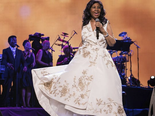 """Aretha Franklin performs at the world premiere of """"Clive"""