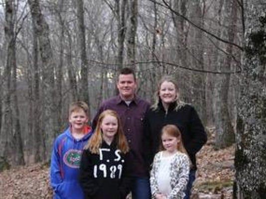 Natalie Ward and family