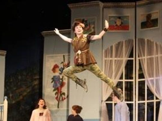 Rhiannon Parsaca plays the role of Peter Pan in Beacon High School's spring production this year.