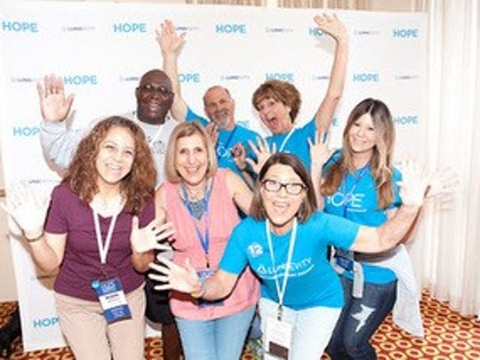 Fort Myers survivors and family at the Hope Summit