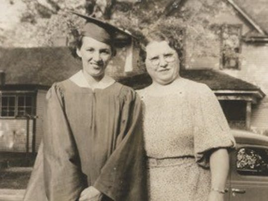 Marian Roshirt, then Marian Whitney, graduated from