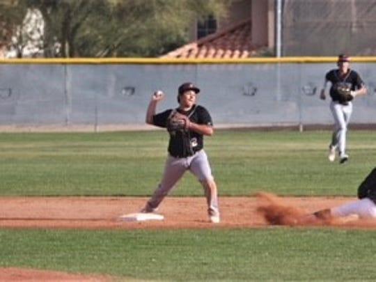 Hamilton High School infielder Jose Valenzuela.