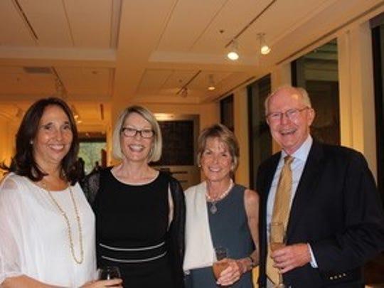 Barbara Hammond, left, Madeleine Bouldin, and Pip and