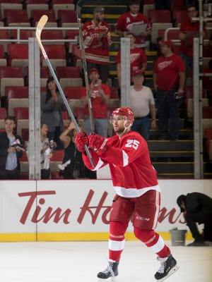 Mike Green was named the No. 1 star of the game after scoring a hat trick.