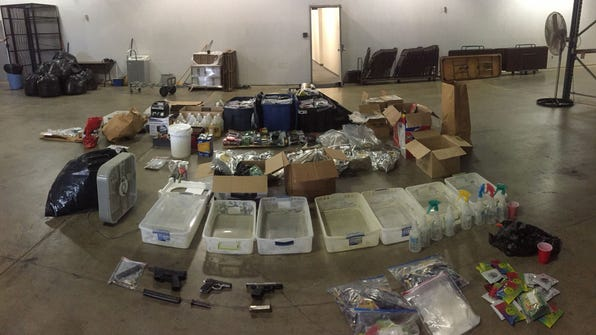 Some of the contraband recovered in a spice seizure