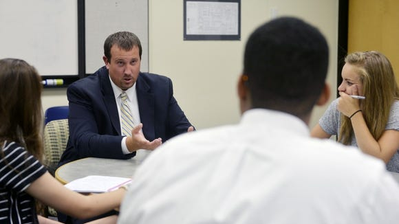 State Rep. Seth Grove, R-Dover Township, speaks with the York Daily Record's Teen Takeover staff on Sept. 3 in the newspaper's conference room.
