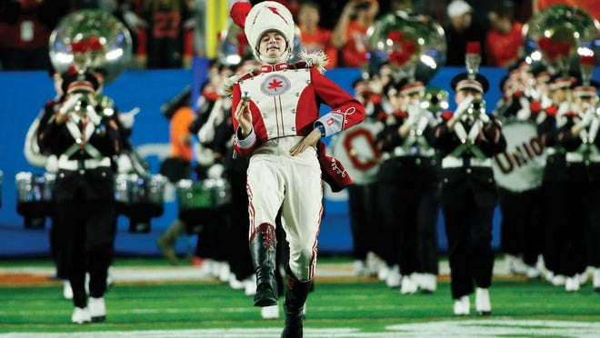 The OSU band in action before the pandemic