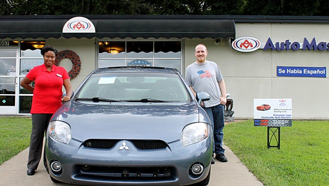 Cameron Spry, a resident from Clarksville, IN, was the official winner of the raffle for the 2007 Mitsubishi Eclipse at the Kelly Little Green Men Days Festival